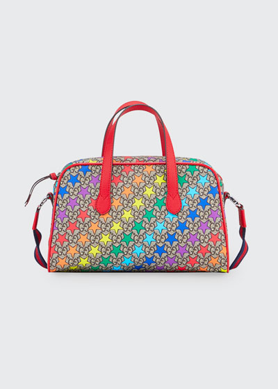 Kids' Rainbow-Star GG Supreme Shoulder Bag