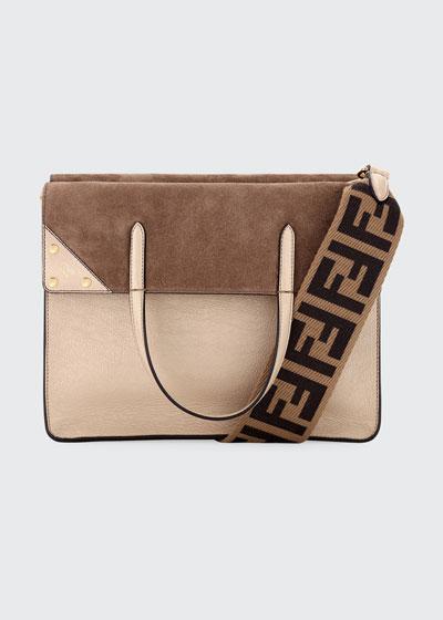 Grace Calf Matte Flip Tote Bag