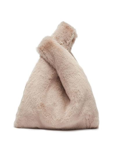 Mini Shopper Faux-Fur Top Handle Bag