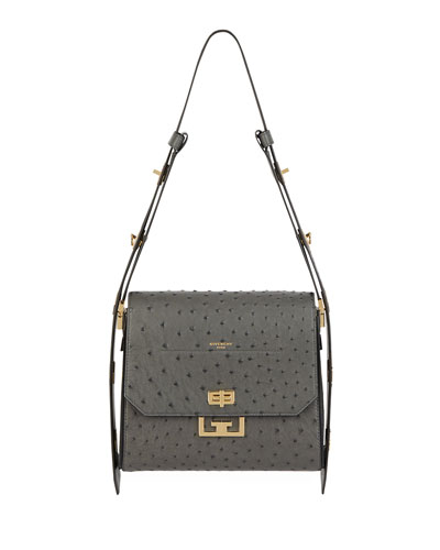 Eden Medium Ostrich Bag