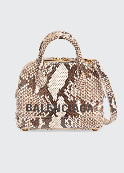 Ville XXS Python Top-Handle Bag