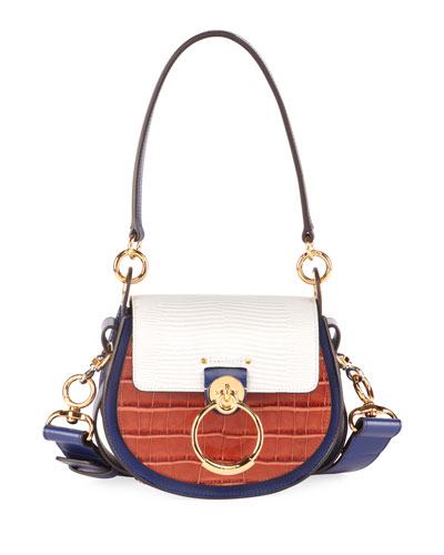 Tess Small Mixed-Media Crossbody Bag