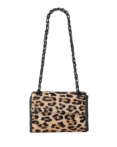 Madison Small Leopard Flap Shoulder Bag
