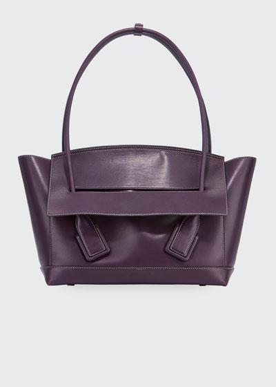 Palmellato Large Leather Top Handle Bag