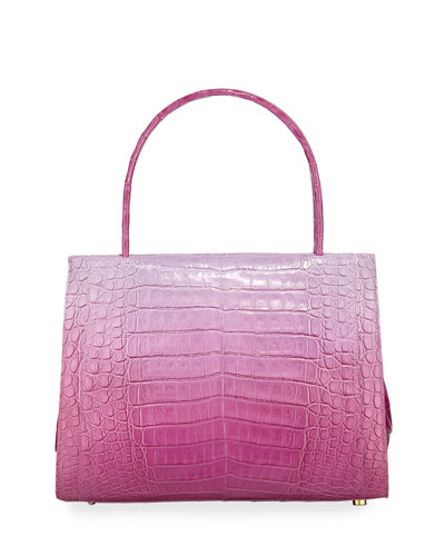 Willis Medium Crocodile Top-Handle Bag