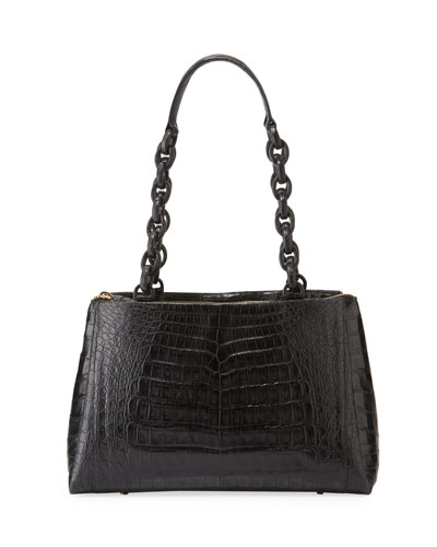 Miranda Small Crocodile Tote Bag