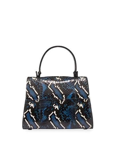 Lexi Small Snakeskin Top-Handle Bag