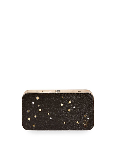 Glittered Acrylic Clutch Bag