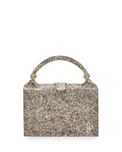 Housewife Glittered Top-Handle Bag
