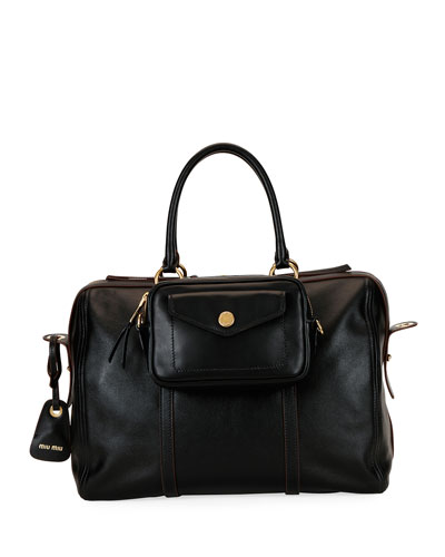 Grace Square Leather Duffle Bag