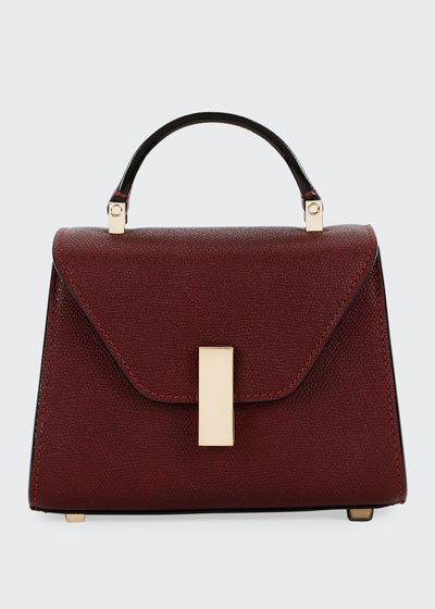 Iside Micro Saffiano Top-Handle Bag