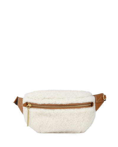 Shearling Slim Bum Belt Bag