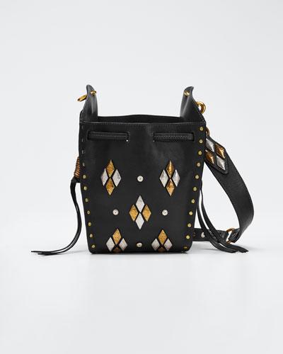 Radja Studded Leather Bucket Bag