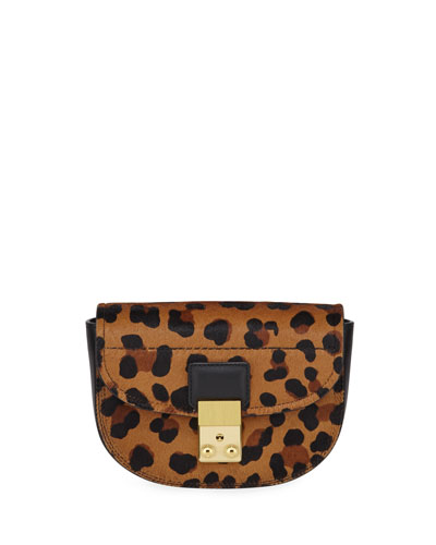 Pashli Mini Saddle Leopard Belt Bag
