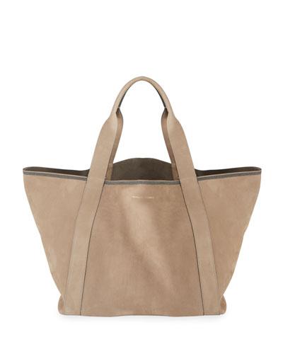 Nubuck Big Shopper Tote Bag