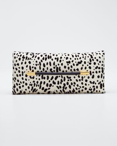 Ava Polka-Dot Calf Hair Pochette Clutch Bag