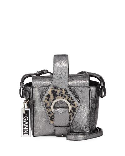 Metallic Square Bucket Bag