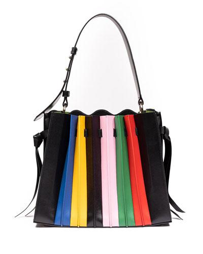Leather Plisse Large Tote Bag