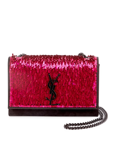 Kate Small Monogram YSL Sequined Crossbody Bag
