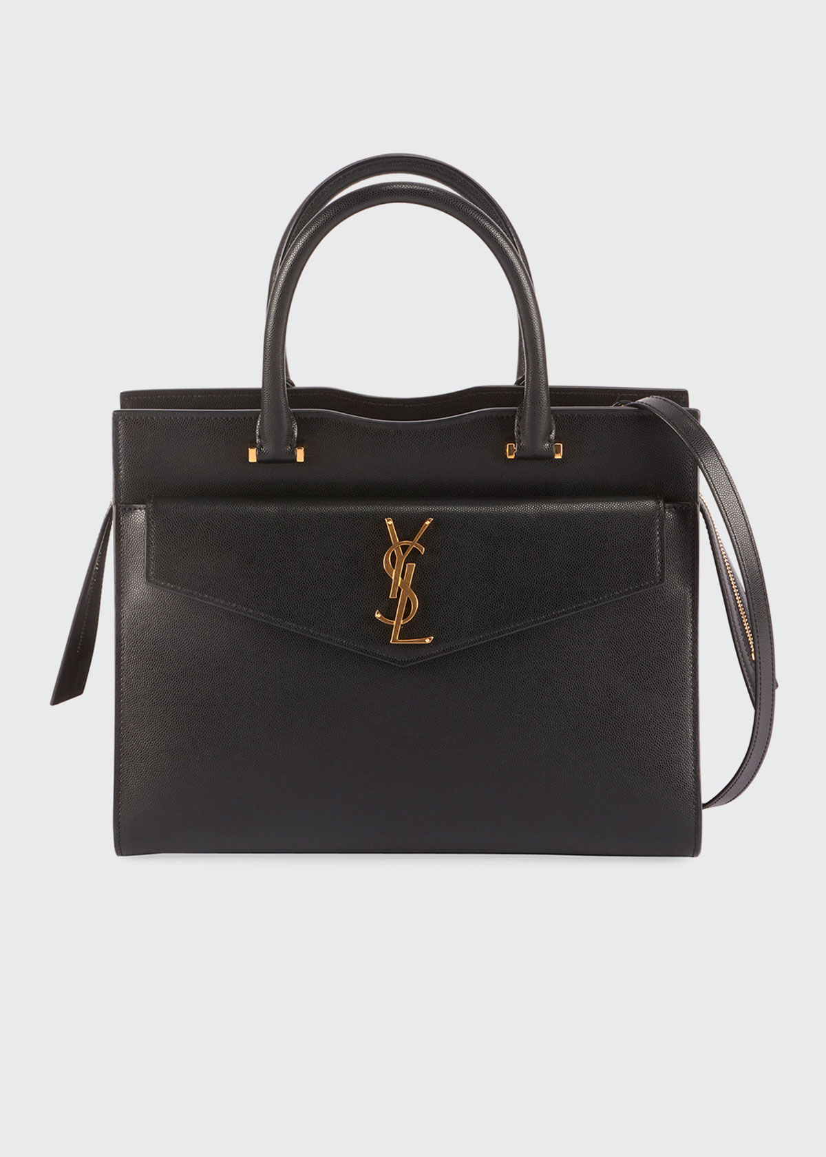 Saint Laurent Bags UPTOWN MEDIUM YSL LEATHER SATCHEL BAG