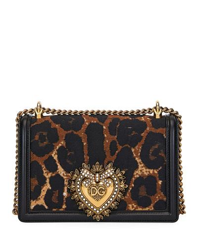 Leopard Jacquard Devotion Crossbody Bag
