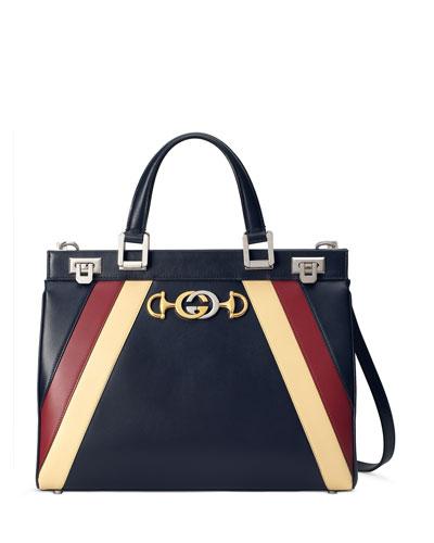 Medium Zumi Stripe Top Handle Bag