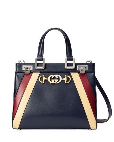 Small Zumi Stripe Top Handle Bag