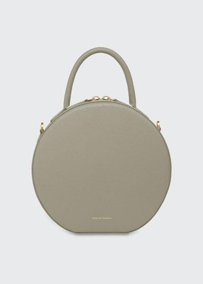 Saffiano Circle Crossbody Bag