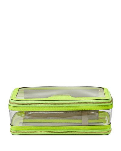Inflight See-Through Cosmetics Bag, Neon Yellow