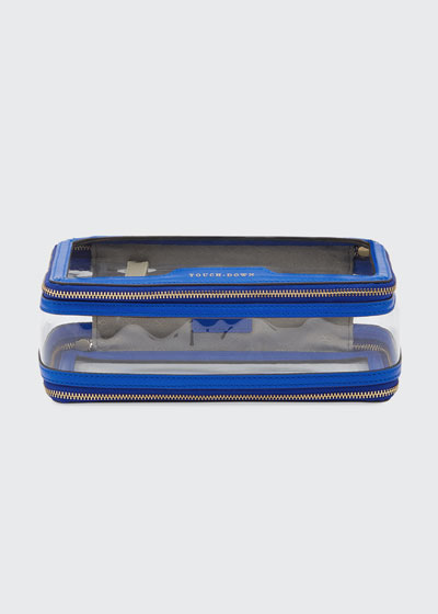 Inflight See-Through Cosmetics Bag, Electric Blue