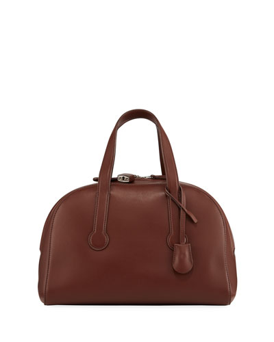 Sporty Bowler 12 Bag in Smooth Leather