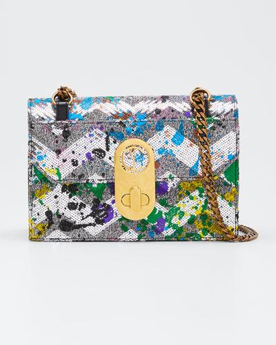Elisa Small Paillette Splash Shoulder Bag