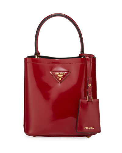 Patent Leather Small Bucket Bag