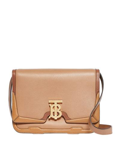 TB Medium Smooth Luggage Crossbody Bag