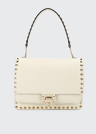 Rockstud Vitello Alce Box Shoulder Bag