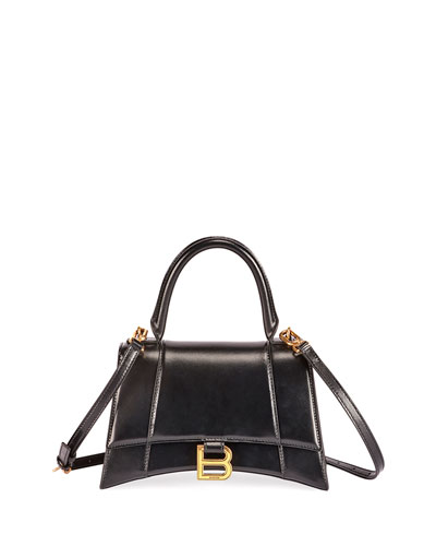 Hour XS Shiny Box Calf Top-Handle Bag