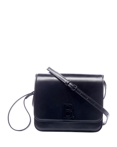 B Medium Shiny Box Calf Bag