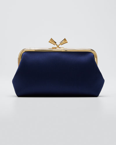 Maud Tassel Satin Clutch Bag