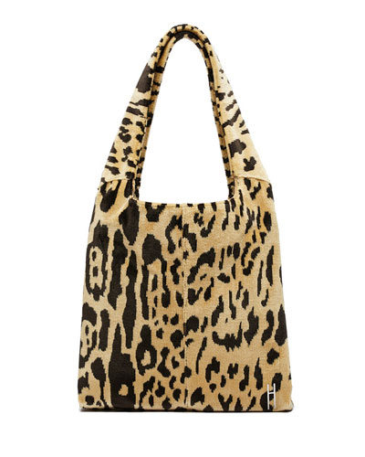 Medium Grand Shopper Leopard-Print Tote Bag