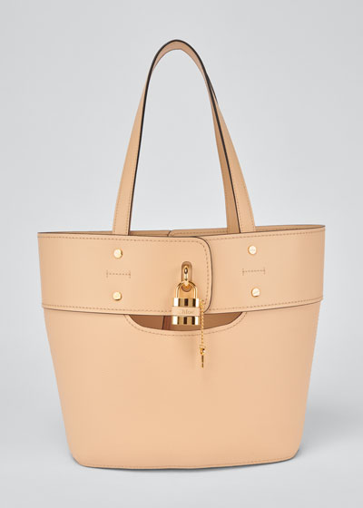 Aby Small Lock-and-Key Tote Bag