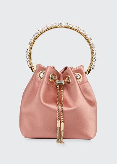 Bon Bon Satin Top Handle Bag with Crystals