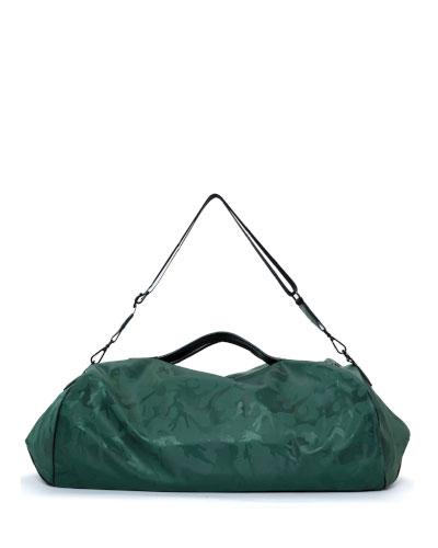 Camo Zip-Top Gym Duffel Bag