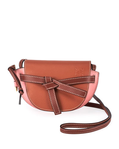 Gate Two-Tone Leather Shoulder Bag