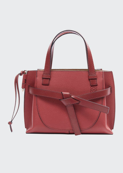 Gate Top-Handle Leather Tote Bag