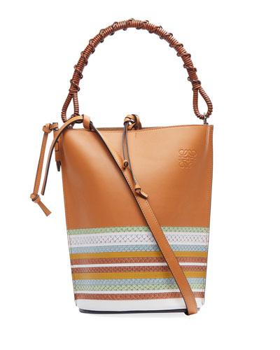 Gate Marine Snake-Trim Bucket Bag