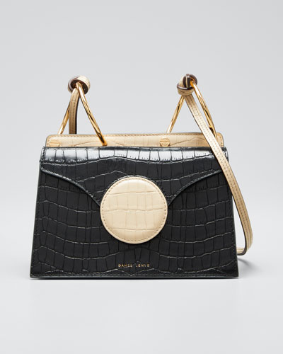 Mini Croc-Embossed Leather Crossbody Bag