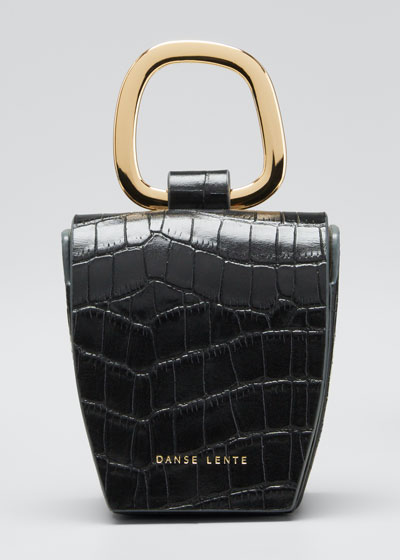 Mock-Croc Leather Box Bag