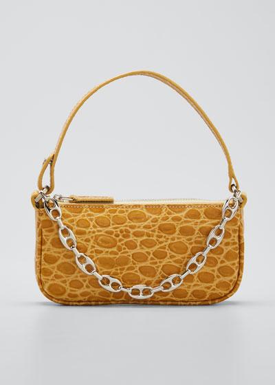 Rachel Mini Croc Embossed Shoulder Bag