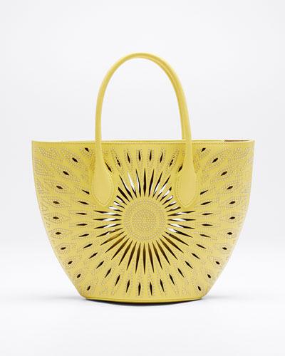 Latifa Perforated Leather Tote Bag