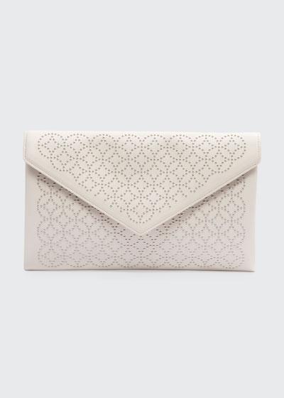 Oum Crystal Envelope Clutch Bag